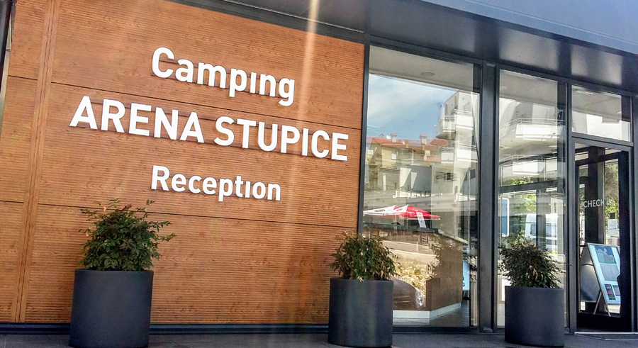 Camp Stupice Reception Desk
